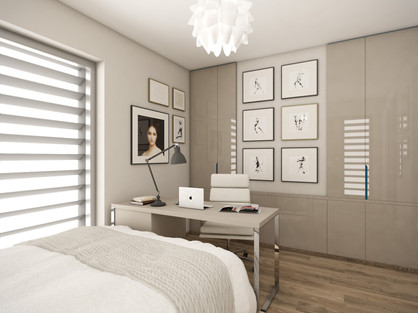 Elegantná spálňa plná obrazov   design CADFACE