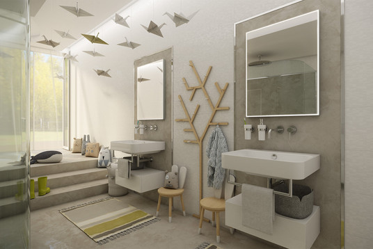Spa bathroom for two boys | by CADFACE