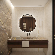 Glamorous powder room in a luxury villa   by CADFACE
