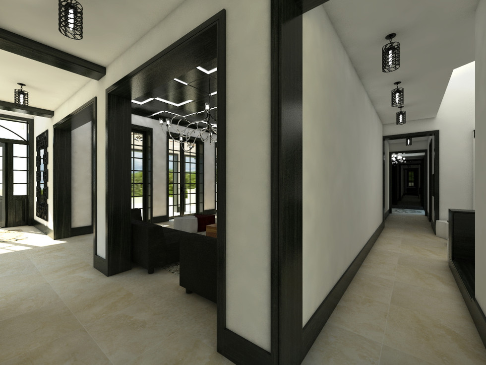 Open-plan living area and hallway | by CADFACE