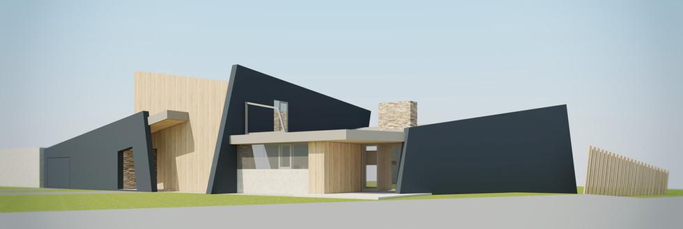 Dom v poli   design CADFACE
