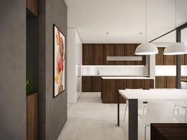 Obývacia izba prepojená s kuchyňou   design CADFACE