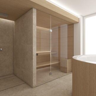 Private spa with jaccuzzi and dry sauna | by CADFACE