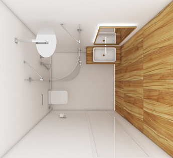 Guest bathroom - layout   by CADFACE