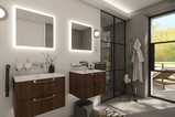 Chic bathroom with private terrace   by CADFACE