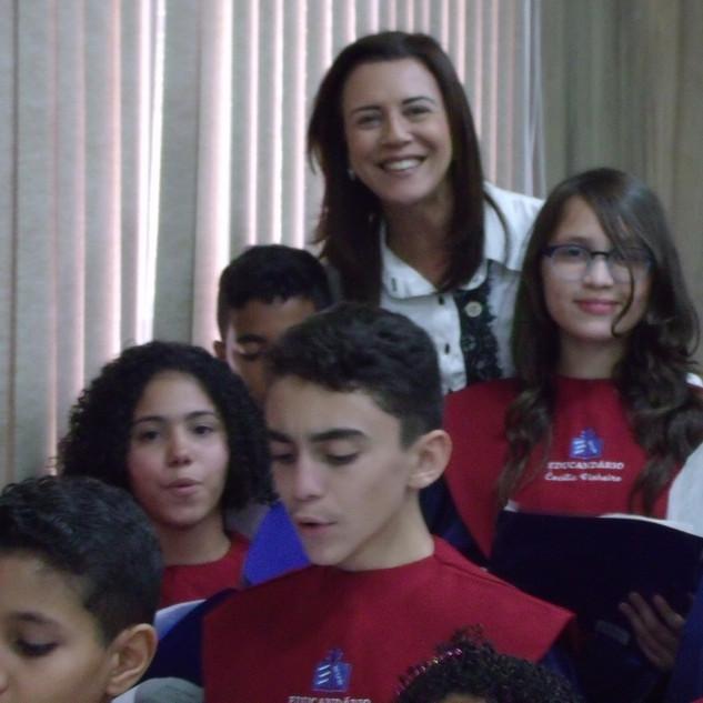 Coral do Crescimento com a Vereadora Joana Lage