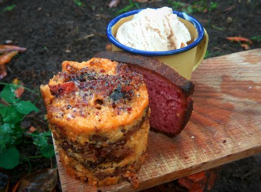 Chingwa - finger millet, maize and amathungulu bread pudding