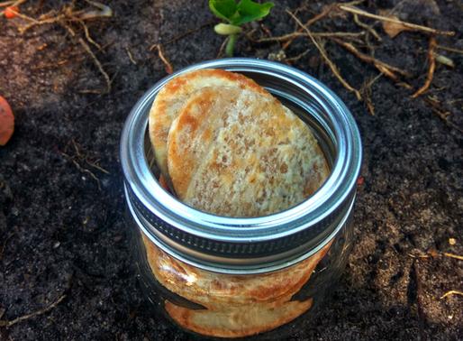 Crispy cinnamon and ginger chapati wafers