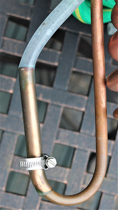 Hosepipe connections for immersion wort