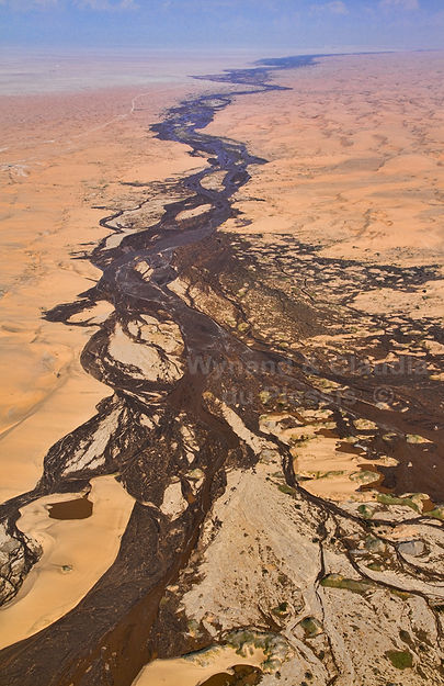 Aerial view of the Kuiseb River in flood, Namibia: landscape073