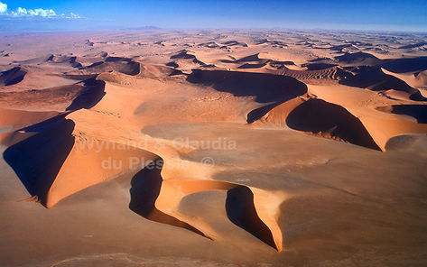 Star dunes of the Namib - aerial view: landscape068