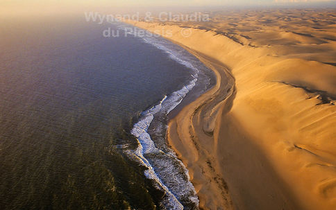 Aerial of the Skeleton coast, Namib Desert: landscape053