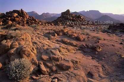 Granite bolders near the Brandberg: landscape041