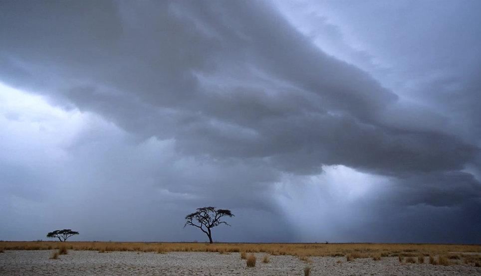 Etosha pan storm photo animation