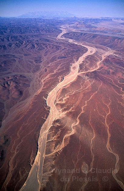 Aerial view of the Mesum Crater with Brandberg on the horizon, Namibia: landscape072