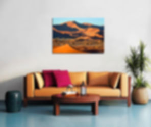 EXAMPLES OF NATURE PHOTO PRINTS embedded in ROOM SPACES