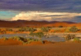 Sossusvlei sunset: landscape058