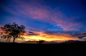 Sunset over the Brandberg in Namibia: landscape027