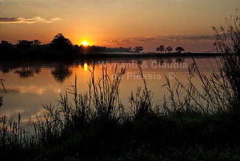 Sunrise over the Kavango river: landscape046