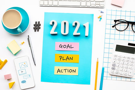 New year 2021,goal,plan,action text  wit