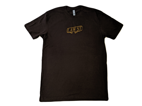 The Palisades Park Collection: Men's Short Sleeve Tee Gold Logo