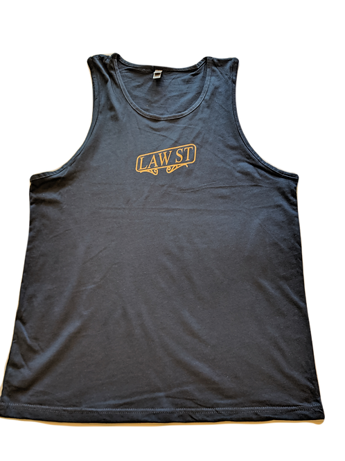 The Street Sign Collection: Men's Tank Top Gold Logo