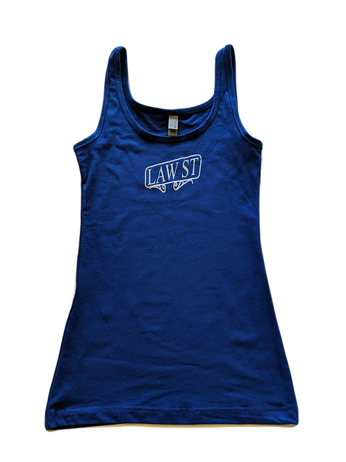 The Street Sign Collection: Women's Jersey Tank White Logo