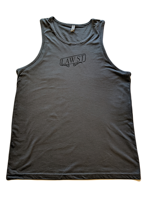 The Street Sign Collection: Men's Tank Top Black Logo