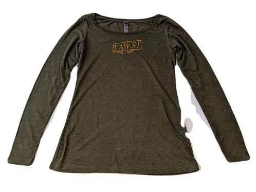 The Palisades Park Collection: Women's Long Sleeve Scoopneck Tee Gold Logo