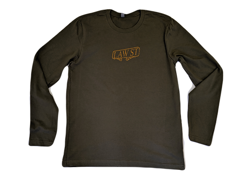 The Palisades Park Collection: Men's Long Sleeve Tee Gold Logo