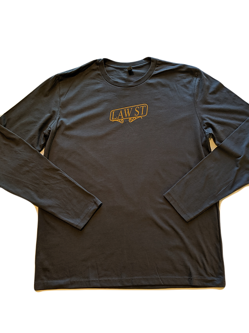 The Street Sign Collection: Men's Long Sleeve Tee Gold Logo