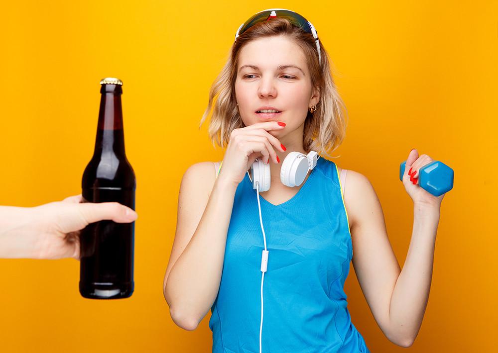 sport in alkohol ter pomanjkanje vode