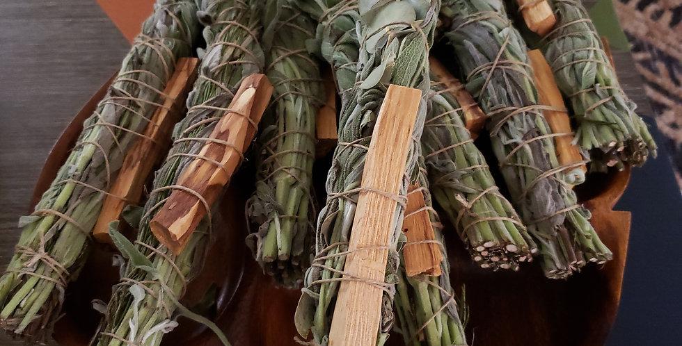 Sage, palo santo and rosemary smudge sticks