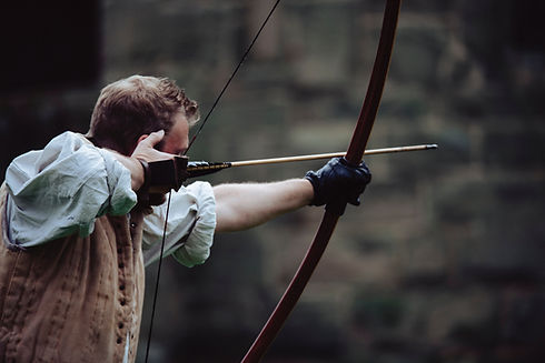 Man Shooting Bow