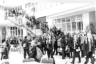 Students on Stairs - Mono