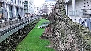 Roman wall ruin