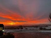 Winter sunrise over Gryffe #NoFilterUsed