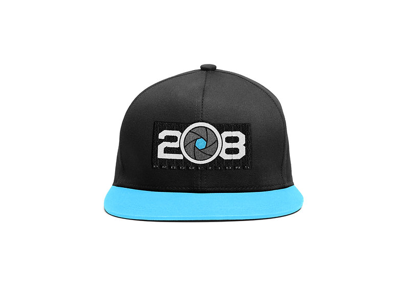 Black/Blue Logo Snapback Hat