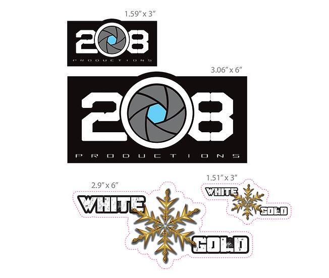208/White Gold Sticker - 4 Pack