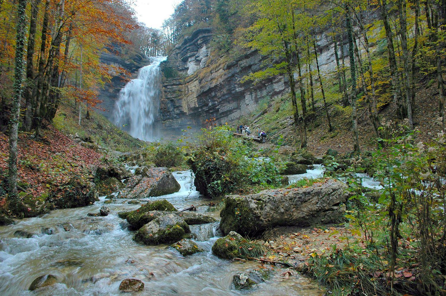 Visite des cascades du Hérisson
