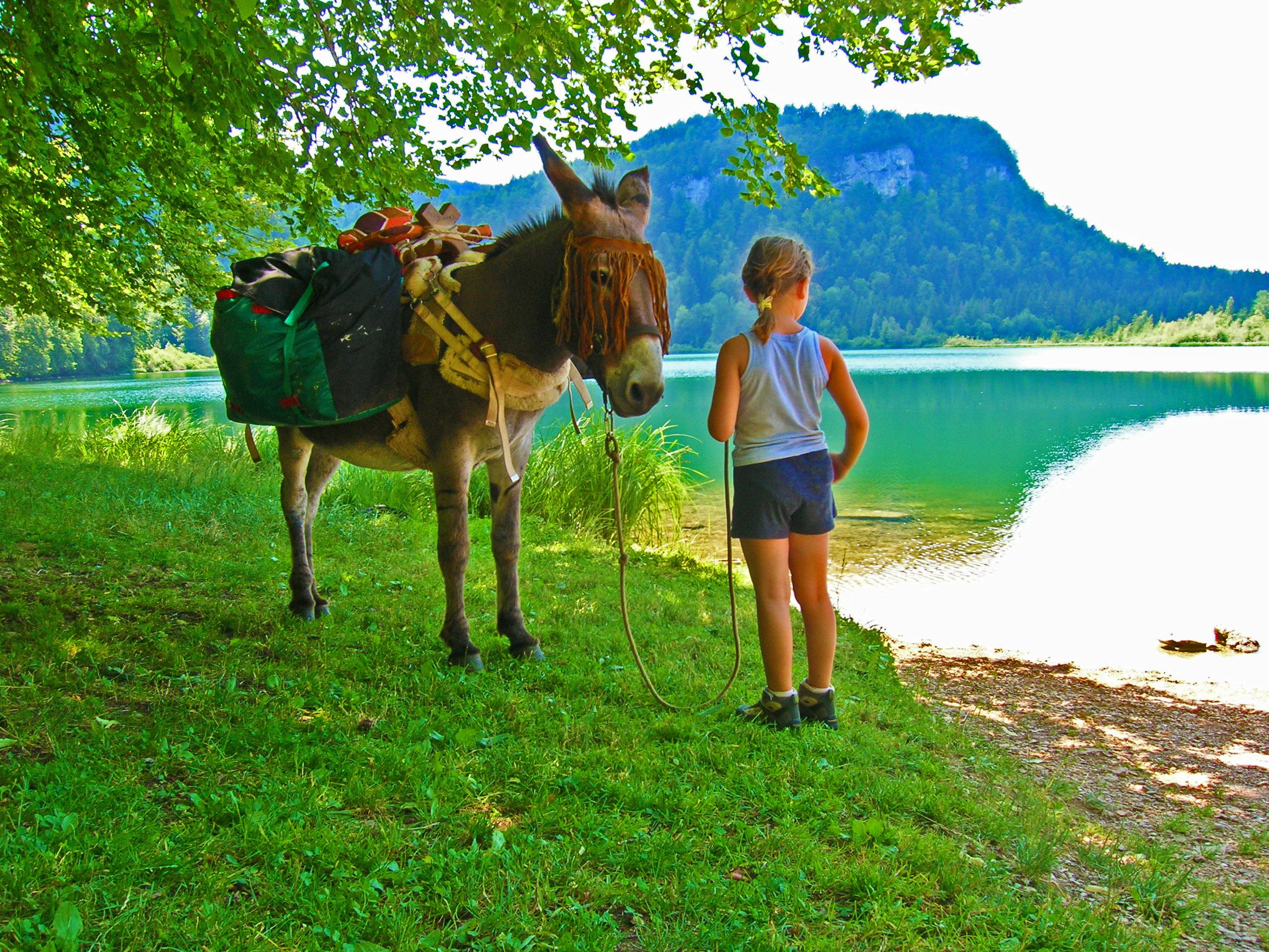 Équitation au bord du Lac