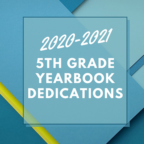 Yearbook Dedication Full Page