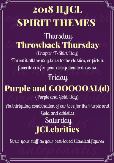 Themes: Throwback Thursday, Purple and GOOOOOOAL(d), and JCLebrities