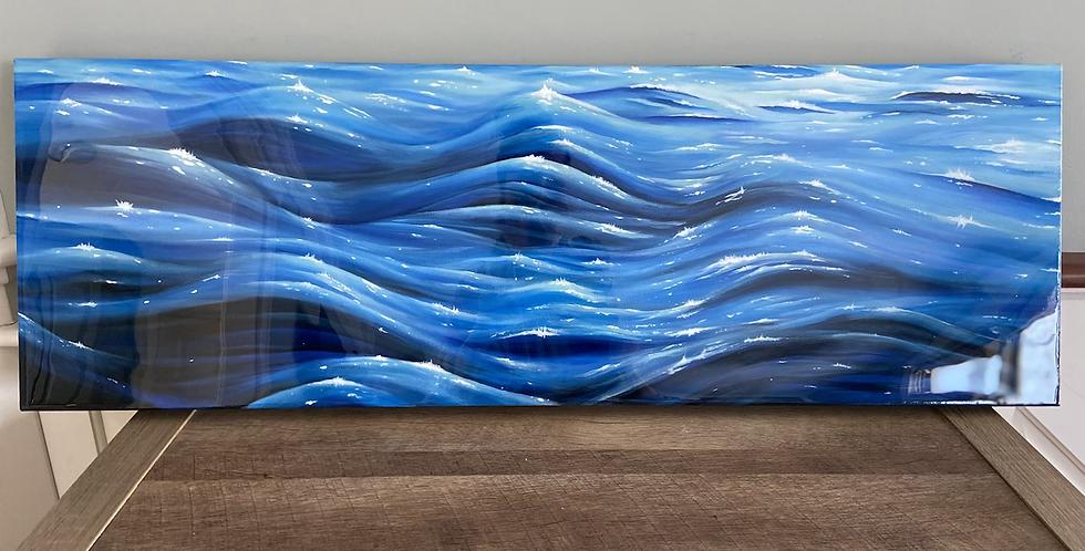 """Entrancing Waves"" 36x12 canvas"