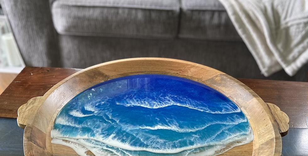 Oversized Caribbean ocean tray