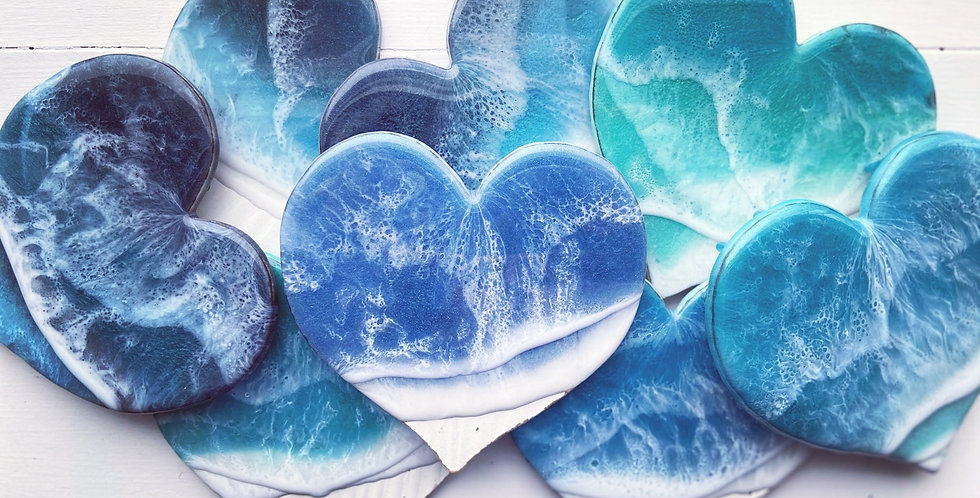 Ocean Heart Ornaments