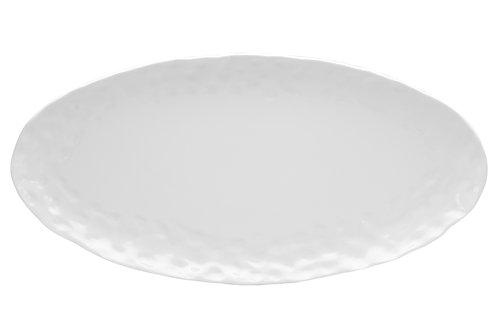 Vanilla Marble Oval Tray