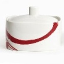 Paint It Red Covered Sugar Bowl