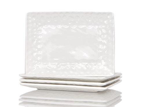Vanilla Marble Rectangular Dinner Plate
