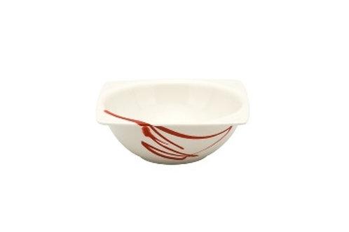 Paint It Red Square Fruit Bowl 8oz